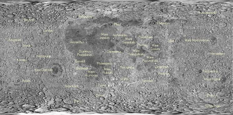 Atlas De La Superficie De La Luna
